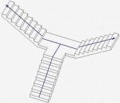 Cách tạo chiếu nghỉ cầu thang bộ phức tạp